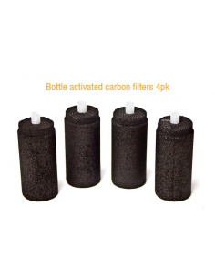 Bottle activated carbon filters 4pk